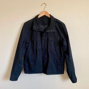 Navy Blue Vince Bomber Style Jacket